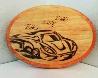 Car plaque - Don't look back - fast - Race Car