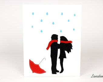 Canvas painting, romantic gift, Valentine's day gift for her, romantic ornament for your room, romantic gift for lovers