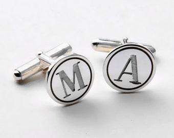 Personalized Wedding Cufflinks,Groom Cufflinks,Engraved Cufflinks,Initials Cufflinks, Monogram Cufflinks,Groomsman Cufflinks,Men Gift