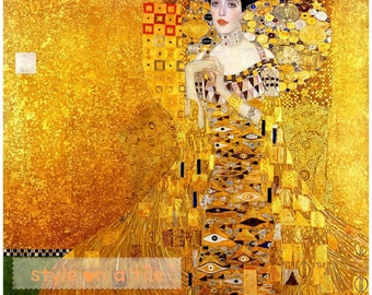 Lovely Gustav Klimt Adele Bloch Bauer Lady Large Ceramic Tile Design Trivet Kitchen Bathroom Walls Splash