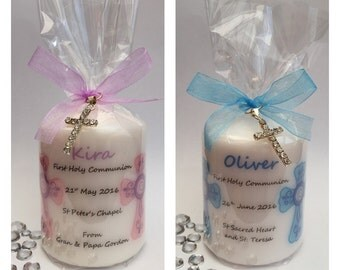 Personalised First Holy Communion Gift Candles