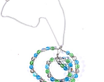 One of A kind Wire Wrapped Under the Sea Jeweled Necklace !!