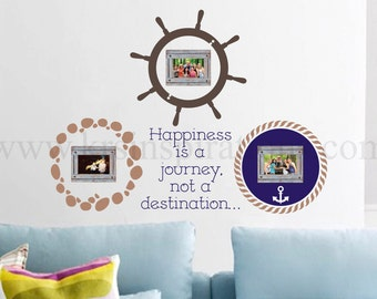 NAUTICAL Picture Frame Wall Decal