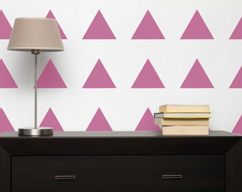 Wall Stencil Triangle -  in reusable Mylar, repeatable pattern, choose shape size up to 10 inches. Large sheet for fast painting
