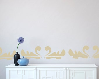 Wall Decals Stickers Swan Border- 3 to 19 inches high  Wall Large Wall Art Wall decor wall borders