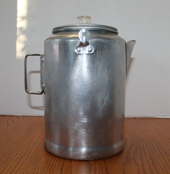 Vintage Aluminum Coffee Percolator Vintage Camping Coffee