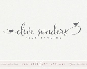 birds logo photography logo premade logo design logo with birds black and white watermark two birds 514