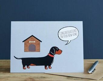 New Home Dachshund card