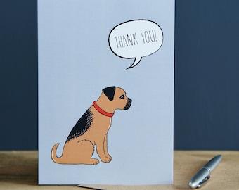 Thank You Border Terrier card