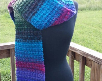 Gorgeous Scarf Hand-knit with Noro