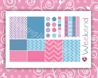 """Planner Sticker Kit """"Cotton Candy"""" Die Cut Planner Stickers 0110162"""