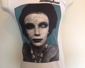 Eurythmics 1981 original for the release of the debut single never gonna cry again,promo T Shirt.