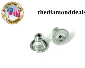 Great Deal on 929 Sterling Silver Friction Post Nuts for Earrings