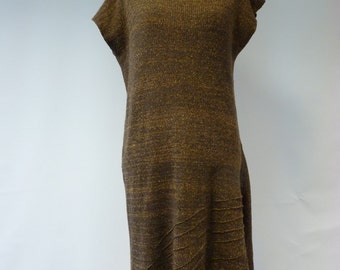 Sale, new price 50 EUR, original price 124 EUR. Modern vintage woollen long dress, XL size.
