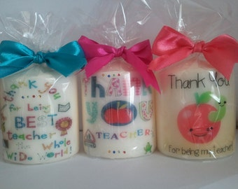 Teacher ... Thank you teacher candles