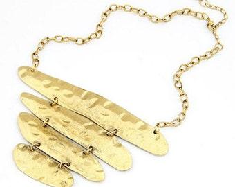 Gold Tone Aztec Necklace