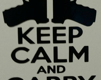 2 by 6 keep calm and carry on decal