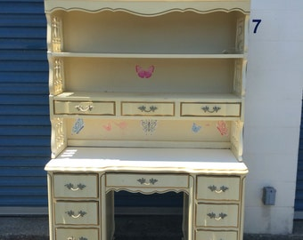 SOLD to Nicole-Vintage Dixie French Provincial Desk and Hutch