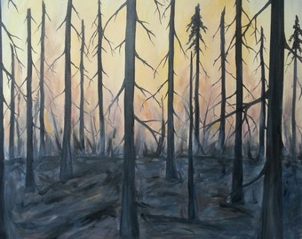 Scorched Earth - Original Painting on Canvas