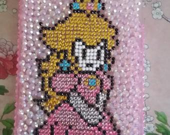 Iphone 5s pink Princess Peach Mario Pixel Decoden Phone Case Kawaii bling