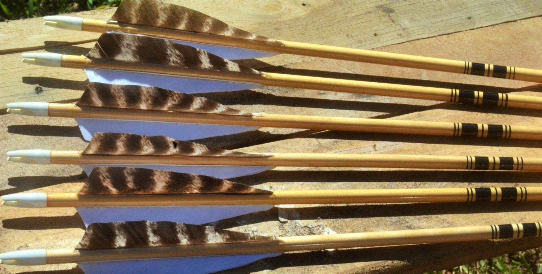 Archery Arrows Traditional Wood Arrows Black Cresting