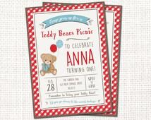 Teddy Bears Picnic Invitation - Printable