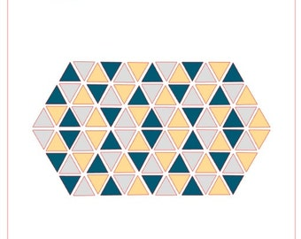 Geometric Triangles Background