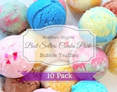 Bubble Bath Truffles (10) - Best Seller Combo Pack, Bath Melt, Bubble Bath Bomb, Bath Fizzy, Gift for Her, Lush Bath, Bridesmaid Gift, Lush