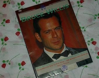 Rare Bruce Willis Poster Magazine Inc. Giant Poster Special Edition Film Memorabilia Die Hard American Actor Action Hero Moonlighting Star