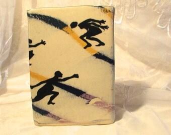 Modernistic Pottery Vase, Abstract Modern Vase, Post Mid Century Vase, Dancing Nudes Vase, 80s Modern Vase