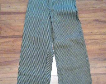 Vintage Deadstock Boys(or Teens ) 1950's Jeans. Railroad stripe. boys vintage sz. 12
