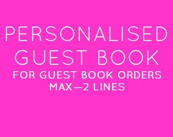 Personalised A4 Guestbook Listing for Weddings, Engagements, Parties