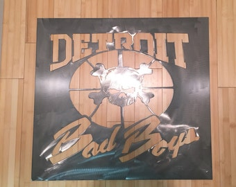 Detroit pistons bad boys metal sign