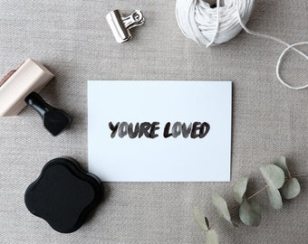 You're Loved Stamp, Stationery Stamps, Rubber Stamps, Card Making Stamps, Wedding Stamps,