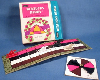 Vintage Kentucky Derby Horse Race Game - 1966