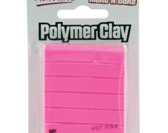 Mont Marte Make n Bake Polymer Clay - Hot Pink