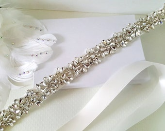 Wedding Belt, Bridal Belt, Sash Belt, Bridesmaid Belt, Flower Girl Belt, Style 184