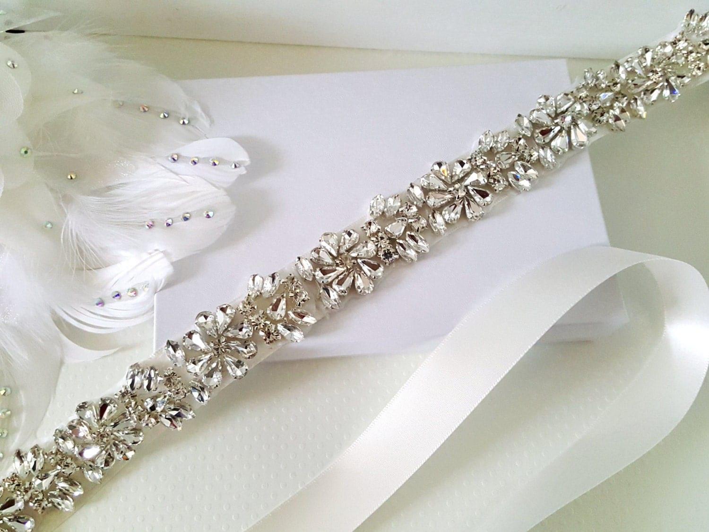 Unique Wedding Dress Sashes Belts: Wedding Belt Bridal Belt Sash Belt Bridesmaid Belt Flower