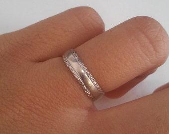 Genuine White-Gold Wedding Ring 14kt