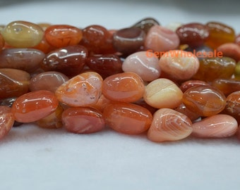 "15.5"" 14~20mm red botswana agate nugget, High quality red botswana agate tumbled beads, Gemstone nugget, big botswana agate nugget beads"