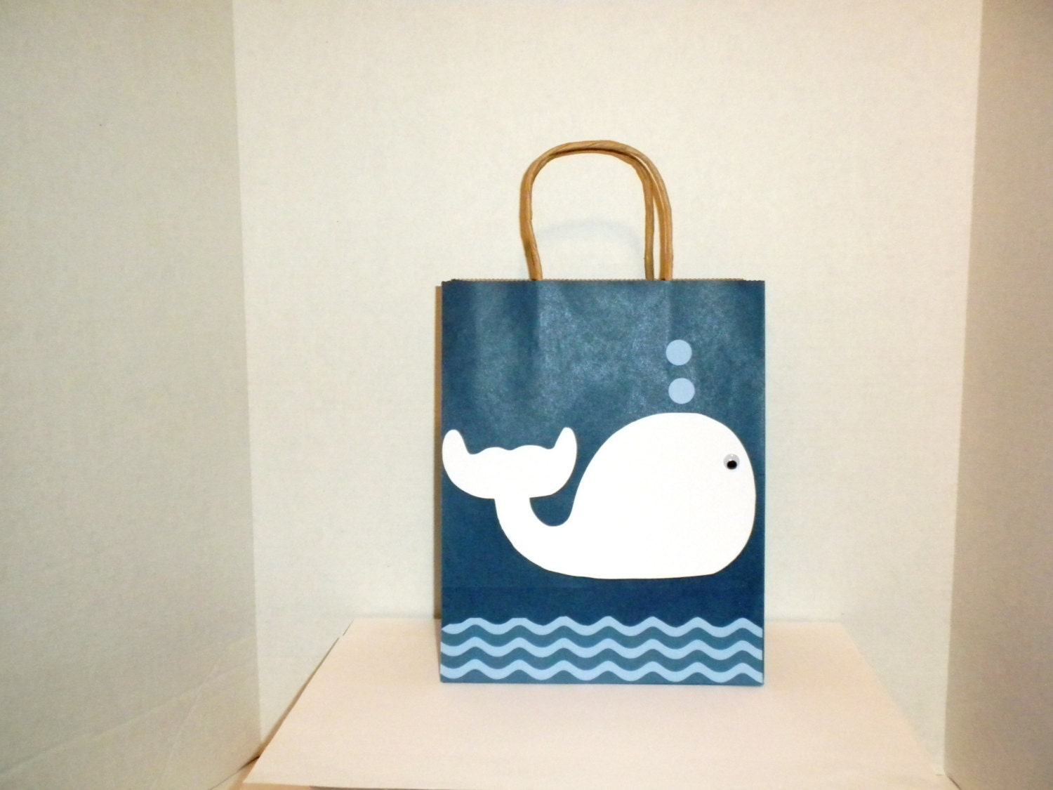 Baby Gift Sack : Whale gift bag large bags baby shower