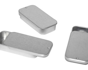 3 pack metal slide top tin container small small tins favor