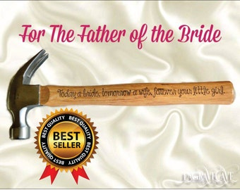 Father of the Bride, engraved hammer, personalized gift