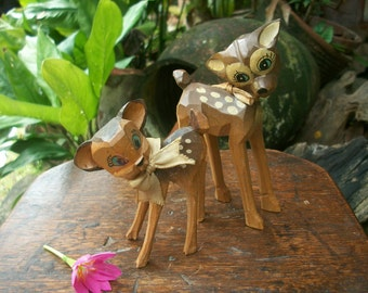 1960s Wood Carving Of Disney Character Bambi