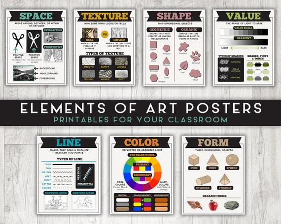 Classroom Design Elements ~ Classroom printable posters elements of art