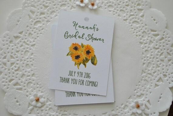 Wedding Shower Thank You Gifts: Sunflower Bridal Shower Thank You Tags Bridal Shower Gift