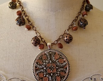 Autumn Medallion Necklace