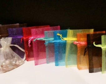 Organza bags, party favor bags, organza gift bags, small organza bags, baby shower bags, wedding party favors, small bags, bags, gift bags