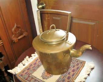 antique copper tea pot.