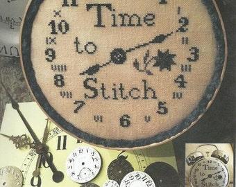 Cross Stitch Clock Etsy